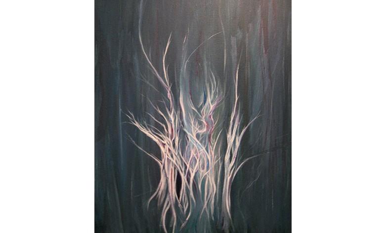 Dryad acrylic painting