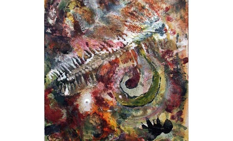 Genome acrylic painting