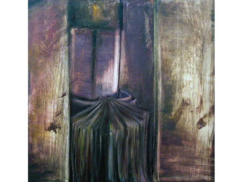 Confessional oil painting